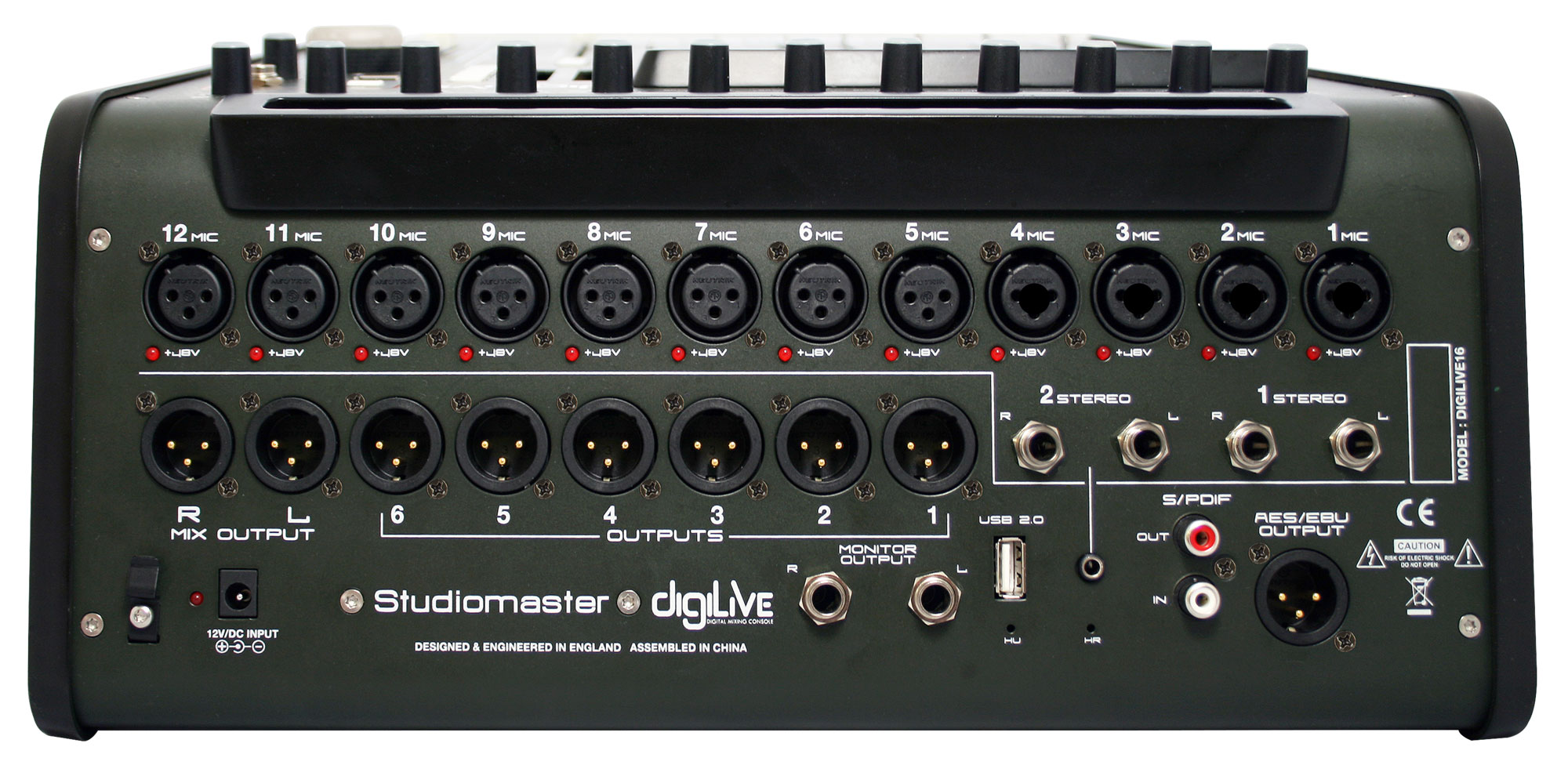 digilive rear panel 1613 Studiomaster DigiLIVE 16