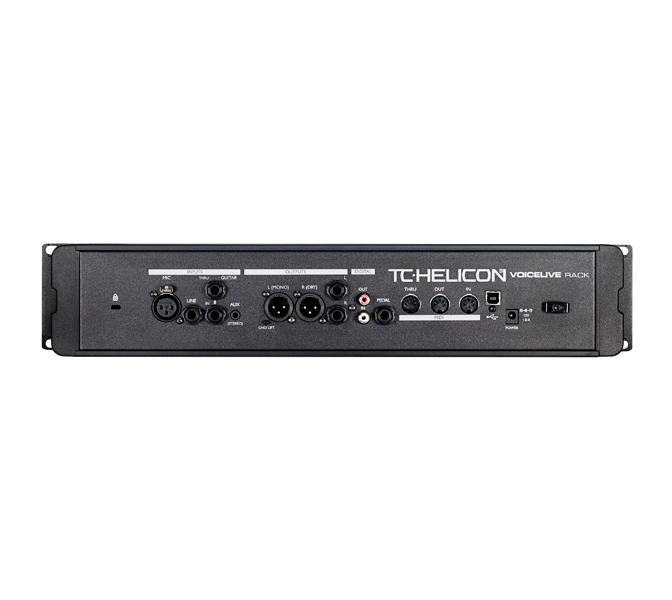 voicelive rack rear panel TC Helicon VOICELIVE Rack, hlasový harmonizér